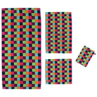 "Lifestyle Karo"" Waschhandschuh multicolor 16x22 cm"