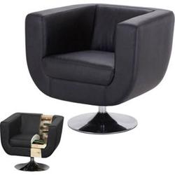Lounge-Sessel Bar-Sessel Club-Sessel Modena II ~ schwarz