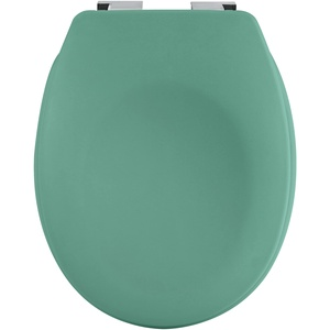 spirella Premium Toilettendeckel oval Klodeckel mit matten Finish und Softclose Absenkautomatik. Antibakterielle Klobrille aus Duroplast und rostfreiem Edelstahl - Grün
