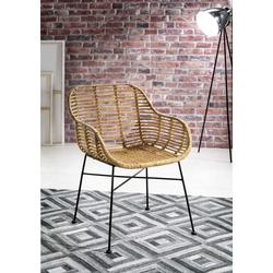 SIT Rattanstuhl Rattan Vintage, mit Armlehnen, im 2er-Set, Shabby Chic, Vintage beige 4-Fuß-Stühle Stühle Sitzbänke