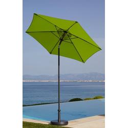 garten gut Sonnenschirm Push up Schirm Rom, abknickbar, ohne Schirmständer grün