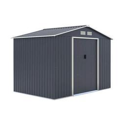 Metallgerätehaus 5,29 m2 Satteldach inkl. Verankerungsset und Unterkonstruktion