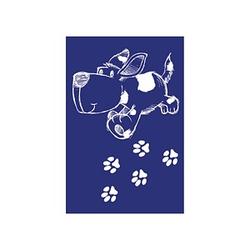 Rayher Siebdruckschablone Hund blau