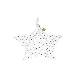 Julius Zoellner Schnuffeltuch Jersey in weiß mit Muster Dots grau
