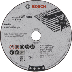 BOSCH Trennscheibe Trennscheibe Expert for Inox A 60 R INOX BF, 5 Stk.; 76 mm; 1 mm; 10 mm, (5-tlg)