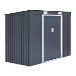 Metallgerätehaus 3.6 m2 anthrazitgrau als Wandanbau inkl. Verankerungsset