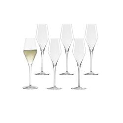 Stölzle Champagnerglas QUATROPHIL Champagnerglas 290 ml 6er Set (6-tlg)