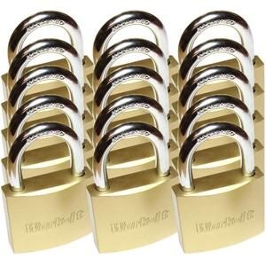 15 Set Vorhängeschloss massiv 38mm mit 90 Schlüsseln GLEICHSCHLIEßEND!