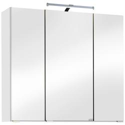 HELD MÖBEL Spiegelschrank Texas Breite 70 cm, mit LED-Aufbauleuchte weiß