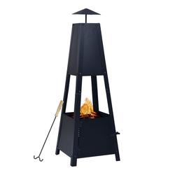 vidaXL Feuerstelle vidaXL Feuerstelle Schwarz 35×35×99 cm Stahl