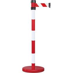VISO BSK200RB Gurtabsperrpfosten rot / weiß Gurt rot weiß gestreift (Ø x H) 50mm x 980mm