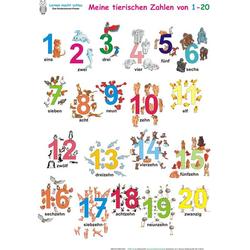 Meine tierischen Zahlen von 1-20. Poster / Meine tierischen Zahlen von 1-20