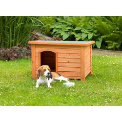 Habau Hundehütte Beagle, BxTxH: 84,5x62,5x57 cm, inkl. Fußboden beige Hundehütten Zwinger Hund Tierbedarf