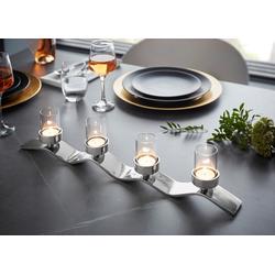 Fink Kerzenständer WAVE, aufwendige Handarbeit, für 4 Kerzen 54 cm x 12 cm x 5 cm