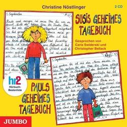 Susis geheimes Tagebuch / Pauls geheimes Tagebuch als Hörbuch CD von Christine Nöstlinger