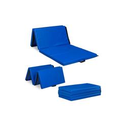 relaxdays Weichbodenmatte Turnmatte 235x120 blau