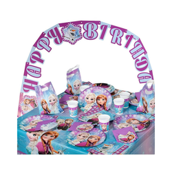 Procos Kindergeschirr-Set Partyset Trolls, 50-tlg. lila