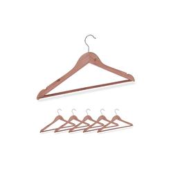 relaxdays Kleiderbügel Kleiderbügel aus Zedernholz 6 Stück