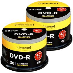 2er-Set DVD-R 4.7GB 16x mit je 50 Rohlingen