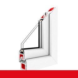Kunststofffenster Dreh (ohne Kipp) Fenster Weiß FX, Anschlag: DIN Links, Glas: 3-Fach, BxH: 1100x1100 (110x110 cm)