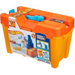 Mattel® Spielzeug-Auto Mattel GCF91 - Hot Wheels - Track Builder System - Fässer-Stunt Box mit einem Fahrzeug