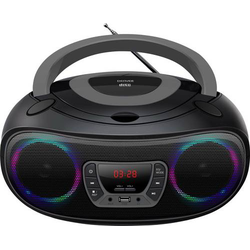 Denver TCL-212BT CD-Radio UKW AUX, CD, USB, Bluetooth® Stimmungslicht Grau