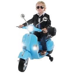 Actionbikes Motors Elektro-Kinderroller Kinder Elektroroller Piaggio Vespa PX150, Belastbarkeit 35 kg, Roller - Motorrad - bis 35kg belastbar blau