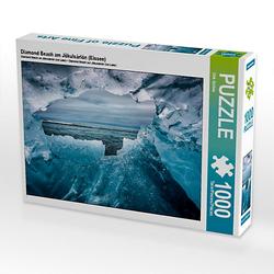 Diamond Beach am Jökulsárlón (Eissee) Lege-Größe 64 x 48 cm Foto-Puzzle Bild von Dirk Sulima Puzzle