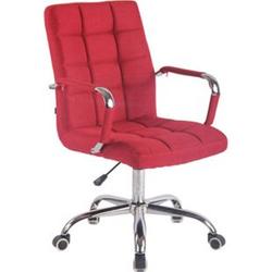 CLP Bürostuhl DELI mit Stoffbezug und hochwertiger Polsterung I Drehstuhl mit höhenverstellbarer Sitzhöhe... rot