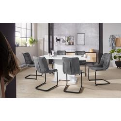HELA Essgruppe JENNY, (Set, 5-tlg), bestehend aus einem ausziehbaren Tisch und 4 Stühlen weiß