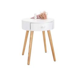 Woltu Nachttisch, Beistelltisch Nachttisch mit Schublade 38x38x48cm