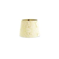 Licht-Erlebnisse Lampenschirm WILLOW Lampenschirm für Nachttischlampe Weiß Stoffschirm Klein Lampe