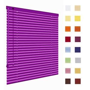 Alu-Jalousien, Jalousien, Horizontaljalousien, Farbe violett, auf Mass gefertigt oder in Standardgroessen, weitere 100 Farben verfuegbar