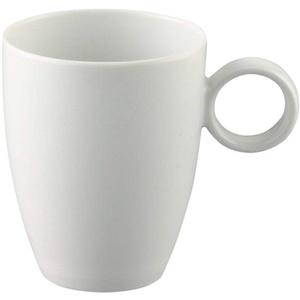 Thomas - Becher mit Henkel - Riesige Auswahl - Henkelbecher Mugge Humpen Haferl Tasse Kaffeetasse Frühstückstasse (Vario Pure/Weiß 0,25 l, 10)