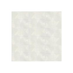WOW Vliestapete Fliese, kariert, (1 St), Weiß 10m x 52cm