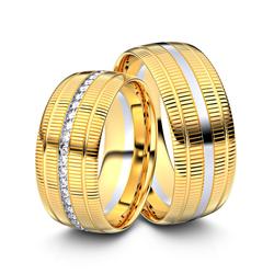 Trauringe Euskirchen 750er Gelb-/Weißgold - 2360
