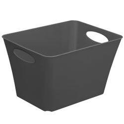 Rotho LIVING Box, 24 Liter, Aufbewahrungsbox, Maße: 431 x 321 x 260 mm, Farbe: anthrazit