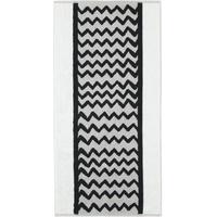 CAWÖ Black & White Wellen 976 Duschtuch 70 x 140 cm silber