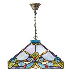 Casa Padrino Tiffany Hängeleuchte / Pendelleuchte Bunt Ø 36 x H. 82 cm - Handgefertigte Tiffany Lampe