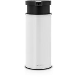 Brabantia Seifenspender, Hochwertiger Flüssigseifenspender aus Edelstahl, Farbe: White