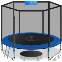 KESSER Trampolin 244 cm inkl. Sicherheitsnetz, Leiter und Randabdeckung blau