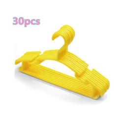 30 Stück Kunststoff Kinderkleiderbügel Kleiderbügel Kinder Bügel Kleiderhaken Gelb