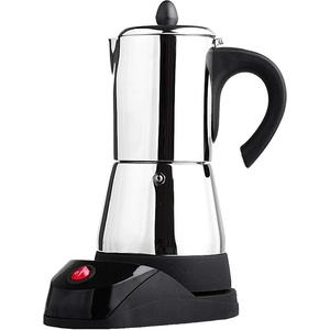 LOVIVER Elektrische Espressokocher Espressokanne Espresso Mokka Maker Espressomaschine für 4 bis 6 Tassen - 6 Tasse