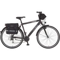 REX Bike Expedition 2020 28 Zoll RH 52 cm matt schwarz inkl. Gratis Lenkerpacktasche und Doppelpacktasche