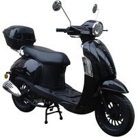 GT UNION Motorroller Massimo, 50 ccm, 45 km/h, Euro 4, (Set), inkl. Topcase schwarz