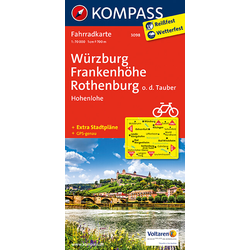 Würzburg - Frankenhöhe - Rothenburg o. d. Tauber - Hohenlohe 1 : 70 000