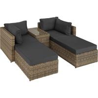 Tectake San Domino Lounge-Set natur