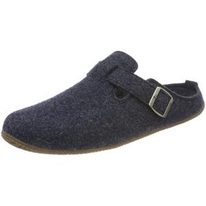 Living Kitzbühel Herren Pantoffel Filz mit Fußbett Hausschuh, dunkelblau, 47 EU