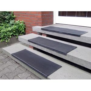 Stufenmatte Gummi, Andiamo, rechteckig, Höhe 7 mm, Gummi-Stufenmatten, Treppen-Stufenmatten, In- und Outdoor geeignet, 5 Stück in einem Set