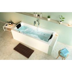Emotion Whirlpool-Badewanne Unity 180 Whirlpool Set mit der Befüllung über den Überlauf